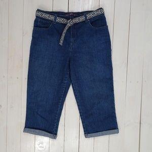 e868ed99d819e Gloria Vanderbilt Jeans - Gloria Vanderbilt Amanda Capri Crop Blue Jeans